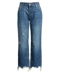 Free People We The Free By Maggie Ripped Crop Straight Leg Jeans