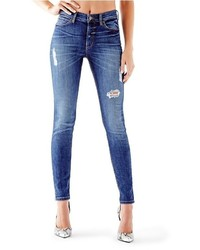GUESS 1981 High Rise Skinny Jeans In Ace High Wash
