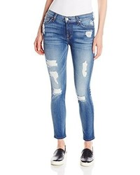 7 For All Mankind Ankle Skinny Jean With Destroy