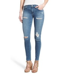 A Gold E Agolde Sophie High Rise Skinny Jeans