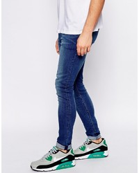 Asos Brand Extreme Super Skinny Jeans With Rip And Repair | Where