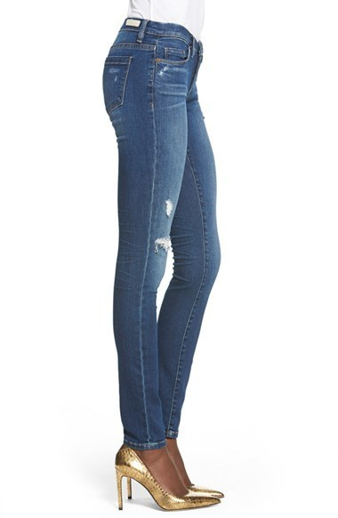 1eb91d73e73bcc Blank NYC Blanknyc Hotel Distressed Skinny Jeans, $88 | Nordstrom |  Lookastic.com