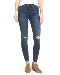 Blanknyc ripped mid rise skinny ankle jeans medium 4950790