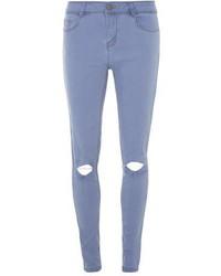 Dorothy Perkins Bleach Blue Rip Bailey Ultra Stretch Super Skinny Jeans