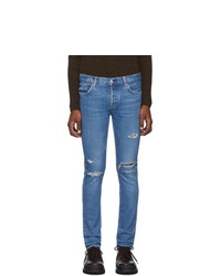 Moussy Vintage Blue Andover Skinny Jeans