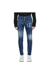 DSQUARED2 Blue Icon Skater Jeans