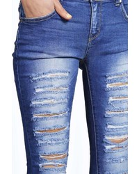 slashed skinny jeans - Jean Yu Beauty