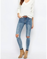 Vila Busted Knee Skinny Jeans