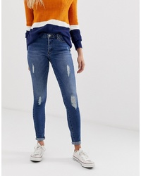 Only Car Distressed Skinny Jeans