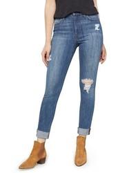 Joe's Charlie Crop Ripped Skinny Jeans