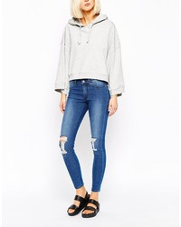 Cheap Monday Ankle Skinny Jeans With Ripped Knees