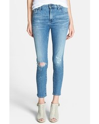 Citizens of Humanity Rocket Destroyed Crop Skinny Jeans
