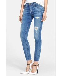 Current/Elliott The Stiletto Destroyed Skinny Jeans