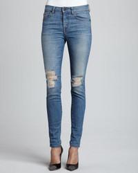 D-ID Denim Destroyed Attwater Skinny Jeans