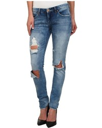 Blank NYC Denim Distressed Skinny In Good Vibes Jeans