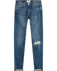 Frame Denim Le Garcon Distressed Skinny Jeans