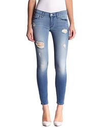 Hudson Jeans Destroyed Skinny Ankle Jeans