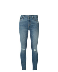 Mother Distressed Cropped Jeans