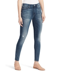 Ella Moss Distressed High Waist Skinny Jeans