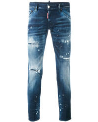 DSQUARED2 Distressed Long Clet Jeans
