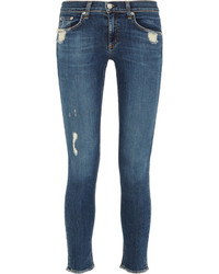 Rag & Bone Distressed Low Rise Skinny Jeans