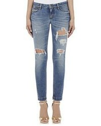 Dolce & Gabbana Distressed Skinny Jeans Blue