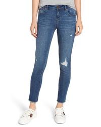 1822 Denim Distressed Skinny Jeans