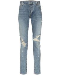 Balmain Distressed Slim Fit Jeans