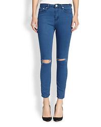 One Teaspoon Dixie Distressed Skinny Ankle Jeans
