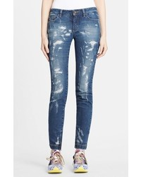 Dolce & Gabbana Dolcegabbana Destroyed Skinny Jeans