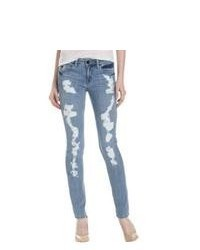 Fade to Blue Distressed Light Wash Skinny Jeans