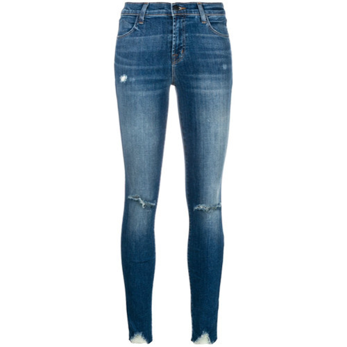 J Brand Faded Ripped Jeans