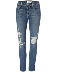 Frame Denim Le High Skinny Distressed Jeans
