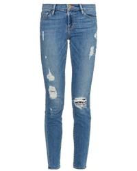 Frame Denim Le Skinny De Jeanne Mid Rise Skinny Jeans