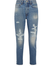 Frame Rigid Re Release Le Original Skinny Distressed High Rise Jeans Mid Denim