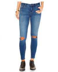 Free People Destroyed Skinny Jeans Josie Wash