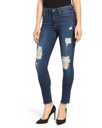 Good American Good Legs High Rise Ripped Skinny Jeans