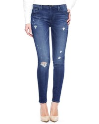 True Religion Halle Mid Rise Super Skinny Ripped Jean