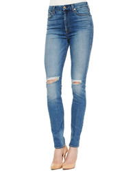 7 For All Mankind High Waist Skinny Jeans Sloan Heritage Medium