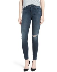 J Brand Maria Ripped High Rise Skinny Jeans