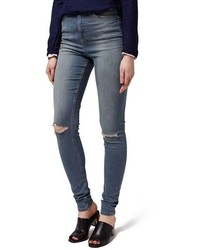 Topshop Jamie High Rise Ripped Skinny Jeans