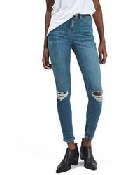 Topshop Jamie Ripped Ankle Skinny Jeans