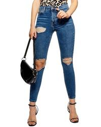 Topshop Jamie Ripped High Waist Skinny Jeans