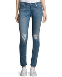 Rag & Bone Jean Skinny Distressed Ankle Jeans Carmine