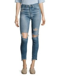 Rag & Bone Jean Step Hem Distressed Skinny Jeanscommodore