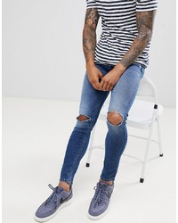 ONLY & SONS Jeans With Open Knee In Skinny Fit