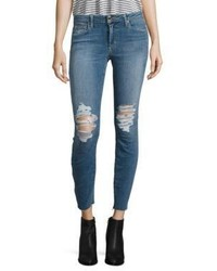 Joe's Jeans Joes Icon Distressed Skinny Ankle Cropped Jeans