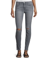 Joe's Jeans The Icon Skinny Ripped Ankle Zip Jeans Mando