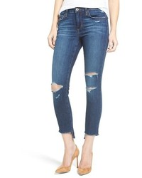 Joe's Jeans Joes Icon Ripped Step Hem Crop Skinny Jeans