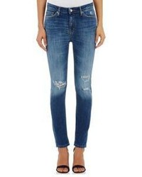 IRO Karsen Distressed Skinny Jeans Blue
